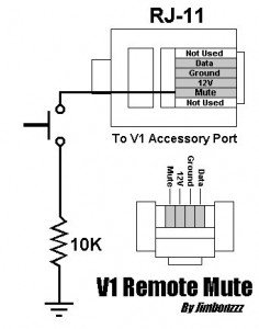 V1 Remote mute switch schematic